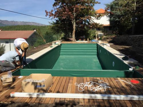 Construção de piscina